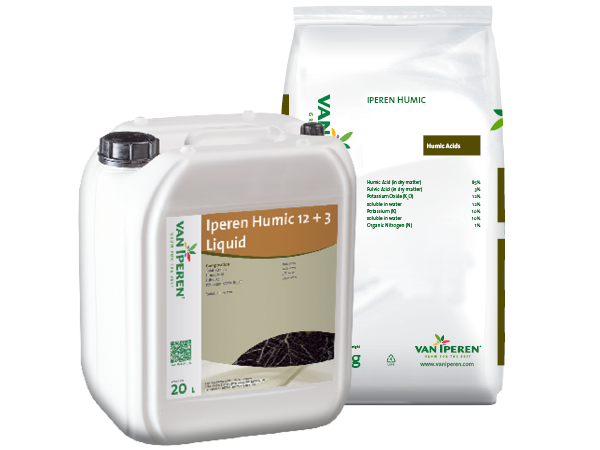 Can and bag of Humic Acid products
